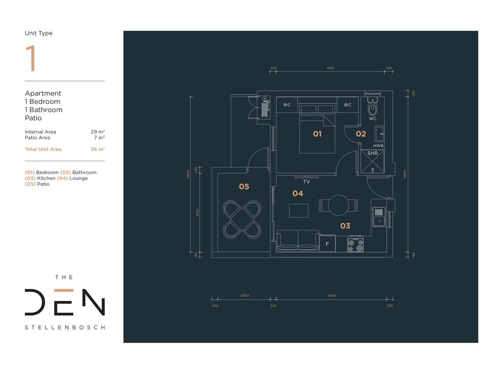 Type 1 Floor Plans