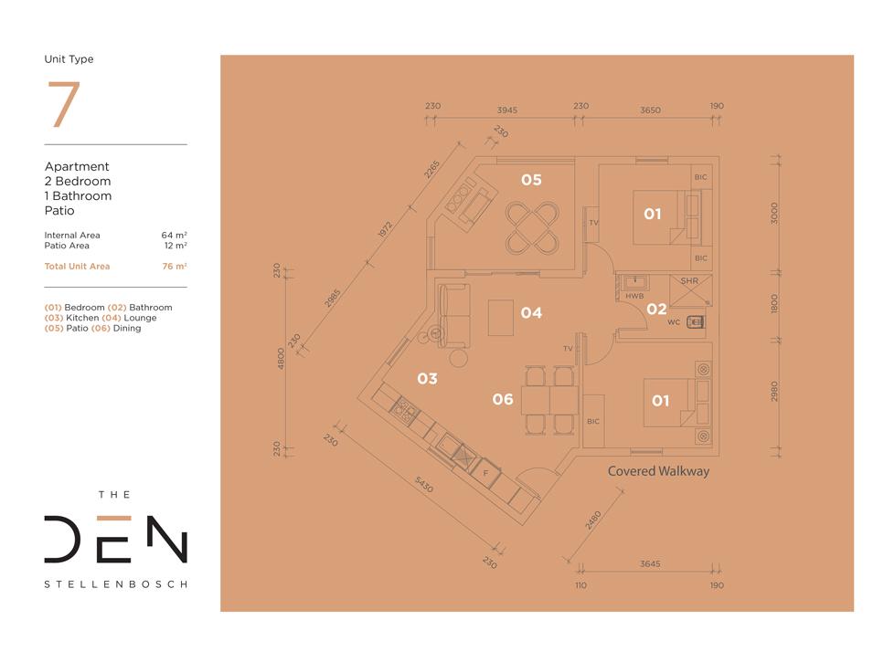 Type 7 Floor Plan